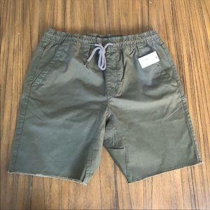 Volcom mens army green khaki type shorts
